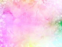 ρόδινα σύνορα και πλαίσιο λουλουδιών τριαντάφυλλων στο εκλεκτής ποιότητας χρώμα για το υπόβαθρο βαλεντίνων Στοκ Εικόνες