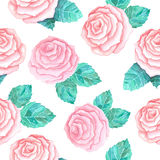 ρόδινα τριαντάφυλλα προτύπ απεικόνιση αποθεμάτων