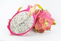 Ρόδινα φρούτα δράκων που απομονώνονται στο άσπρο υπόβαθρο Στοκ Φωτογραφία