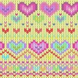 Ρόδινες καρδιές σύστασης Στοκ εικόνα με δικαίωμα ελεύθερης χρήσης
