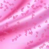 Ρόδινες καρδιές - υπόβαθρο βαλεντίνων Στοκ εικόνες με δικαίωμα ελεύθερης χρήσης