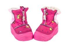Ρόδινες μπότες μωρών Στοκ φωτογραφία με δικαίωμα ελεύθερης χρήσης
