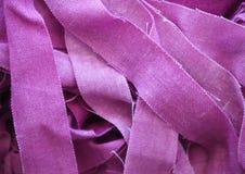Ρόδινες λουρίδες υφάσματος Στοκ φωτογραφίες με δικαίωμα ελεύθερης χρήσης