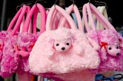 Ρόδινες poodle τσάντες Στοκ Φωτογραφίες