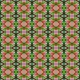 Ρόδινη ανθοδέσμη του Indica λουλουδιού Quisqualis άνευ ραφής απεικόνιση αποθεμάτων