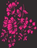 Ρόδινη απεικόνιση σχεδίου Clipart λουλουδιών διανυσματική Στοκ Εικόνες
