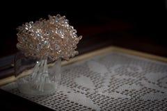 Ρόδινη διακόσμηση ανθοδεσμών λουλουδιών Στοκ Εικόνα