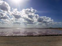 Ρόδινη λιμνοθάλασσα Στοκ Φωτογραφία