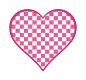 Ρόδινη και άσπρη ελεγμένη καρδιά Στοκ φωτογραφία με δικαίωμα ελεύθερης χρήσης