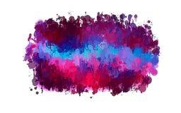 Ρόδινη και ιώδης σταγόνα κτυπημάτων βουρτσών Αμερικανός διακοσμεί διανυσματική έκδοση συμβόλων σχεδίου την πατριωτική καθορισμένη Στοκ Εικόνες
