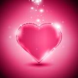 Ρόδινη καρδιά Στοκ φωτογραφία με δικαίωμα ελεύθερης χρήσης