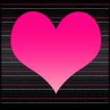 Ρόδινη καρδιά Στοκ Εικόνες