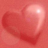 Ρόδινη καρδιά διανυσματική απεικόνιση