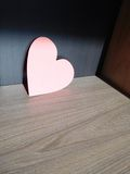 Ρόδινη καρδιά Στοκ Εικόνα