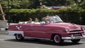 Ρόδινη κουβανική κλασική Αβάνα Στοκ Εικόνες