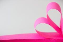 Ρόδινη κολλώδης καρδιά σημειώσεων Στοκ εικόνες με δικαίωμα ελεύθερης χρήσης