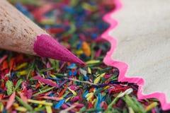Ρόδινη μακροεντολή μολυβιών Στοκ Φωτογραφία