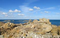 Ρόδινη παραλία γρανίτη Στοκ Φωτογραφίες