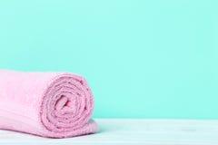 ρόδινη πετσέτα Στοκ φωτογραφίες με δικαίωμα ελεύθερης χρήσης