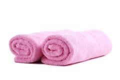 ρόδινη πετσέτα Στοκ εικόνες με δικαίωμα ελεύθερης χρήσης