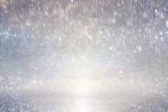 Ρόδινη πορφυρή και χρυσή φωτογραφία υποβάθρου φω'των Defocused στοκ φωτογραφία