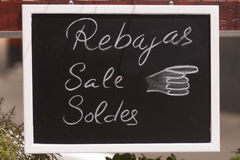 ρόδινη πώληση κίτρινη Στοκ Εικόνες