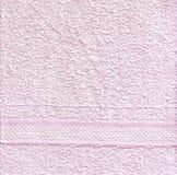 Ρόδινη σύσταση πετσετών στοκ εικόνες