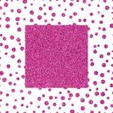 Ρόδινη σύσταση glittery πλαισίων με το διάστημα αντιγράφων Στοκ φωτογραφία με δικαίωμα ελεύθερης χρήσης