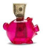 Ρόδινη τράπεζα Piggy στοκ εικόνα με δικαίωμα ελεύθερης χρήσης