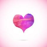 Ρόδινη χρωματισμένη διάνυσμα καρδιά Στοκ εικόνα με δικαίωμα ελεύθερης χρήσης