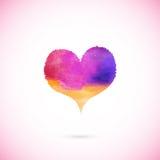 Ρόδινη χρωματισμένη διάνυσμα καρδιά Στοκ Εικόνα