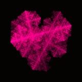 Ρόδινη fractal νέου καρδιά Στοκ Φωτογραφία