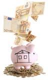 Ρόδινη piggy τράπεζα Στοκ Εικόνα