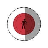 ρόδινη symbol person do exercise γυμναστική Στοκ εικόνες με δικαίωμα ελεύθερης χρήσης
