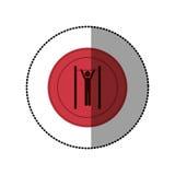 ρόδινη symbol person do exercise γυμναστική Στοκ φωτογραφία με δικαίωμα ελεύθερης χρήσης