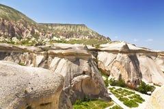 ρόδινοι βράχοι, Goreme, Cappadocia, κεντρική Ανατολία, Τουρκία Στοκ φωτογραφία με δικαίωμα ελεύθερης χρήσης