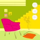 Ρόδινοι καρέκλα και λαμπτήρας Στοκ εικόνα με δικαίωμα ελεύθερης χρήσης