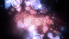 Ρόδινοι ομόκεντροι κύκλοι διανυσματική απεικόνιση