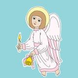 Ρόδινος άγγελος Στοκ Φωτογραφία
