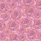 Ρόδινος αυξήθηκε, floral υπόβαθρο σχεδίων Απεικόνιση αποθεμάτων