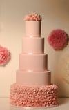 ρόδινος γάμος κέικ Στοκ Εικόνα