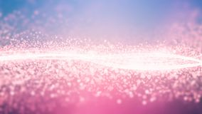 Ρόδινος ελαφρύς γαλαξίας κρυστάλλων ταπετσαριών στοκ εικόνα