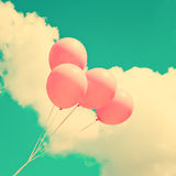ρόδινος ουρανός μπαλονιών Στοκ εικόνα με δικαίωμα ελεύθερης χρήσης