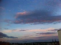 Ρόδινος ουρανός σύννεφων Στοκ Εικόνα