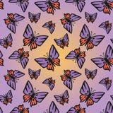 Ρόδινος-πορφυρή άνευ ραφής σύσταση πεταλούδων ελεύθερη απεικόνιση δικαιώματος