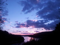 ρόδινος πορφυρός ουρανός Στοκ εικόνες με δικαίωμα ελεύθερης χρήσης