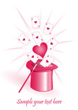 ρόδινος ρομαντικός ανασκ Στοκ εικόνα με δικαίωμα ελεύθερης χρήσης