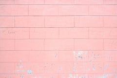 Ρόδινος τοίχος, ασβεστοκονίαμα σύστασης, συγκεκριμένη επιφάνεια ως υπόβαθρο Στοκ Φωτογραφία