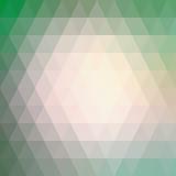 Ρόδινος φωτισμός στο πράσινο χαμηλό πολύγωνο Στοκ Εικόνες