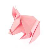 Ρόδινος χοίρος του origami Στοκ Φωτογραφία